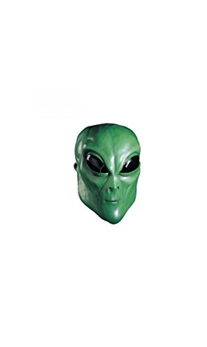 [Alien Green Mask - Adult Accessory] (Out Of This World Alien Costume)
