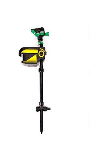 Maximumstore Solar Scarecrow Motion Activated Water Animal Repellent Deterrent Sprinkler ()
