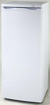 Upright Freezers 22' Freestanding Upright Counter Depth Freezer with 5.3 cu. ft. Capacity, White Door, Right Hinge, Manual Defrost, in White