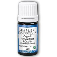 Essential Moroccan Chamomile Oil - Simplers Botanicals - Organic Essential Oil Chamomile Moroccan Blue - 2 ml.