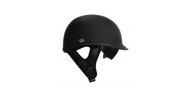 Amazon.es: Dot Jockey estilo negro casco de motocicleta con sol Shield