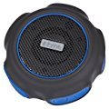 iHome iBT82BLC Waterproof + Shockproof Speaker - Featuring Melody, Voice Powered Music Assistant - Black/Blue