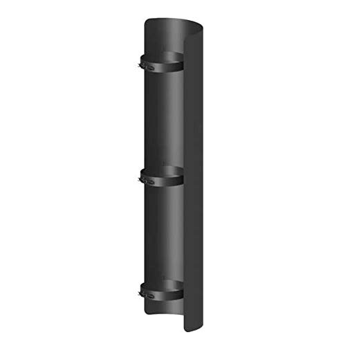Ø 150 mm Ofenrohr Strahlungsschutz 100 cm Schwarz