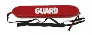 Rescue Tube w/Plastic Clips & Guard Logo, 40in, Red ()