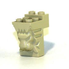 (Lego Parts: Brick, Modified 2 x 3 x 3 with Cutout and Lion Head (LBGray))