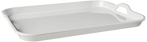 Hutzler 3920WH Handles Serving Tray, White (Melamine Tray With Handles)