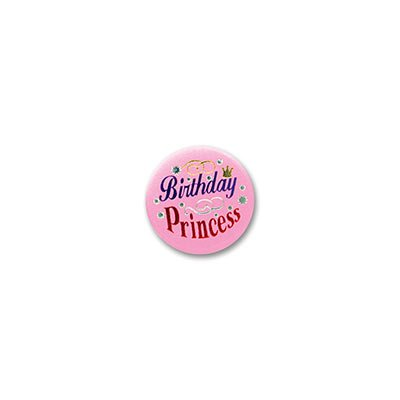 Beistle Birthday Princess Satin Button 2