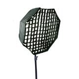 Pro 30-Inch Octagon Umbrella Speed lite Softbox Brolly Reflector with Grid by CowboyStudio