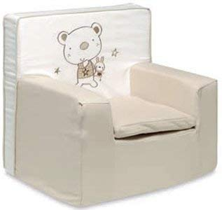 pirulos 32013010–Sessel Motiv Bär Star, Baumwolle, 51x 49x 27cm, Farbe Weiß und Leinen
