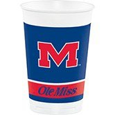 Pack of 96 NCAA Ole Miss Rebels Plastic Drinking Tailgate Party Cups - 20 (Ncaa Drinking Cups)