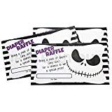 Just For Your Baby Boutique Nightmare Before Christmas Themed Diaper Raffle Cards]()