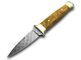 BOKER Tree Brand Damascus Amboina Wood Knife Knives