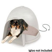 Igloo Soft Heated Dog Dome Heating Pad Size: (18