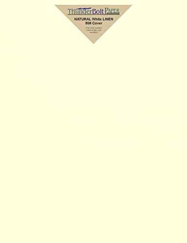 Linen Natural Finish (25 Natural Linen 80# Cover Paper Sheets - 8