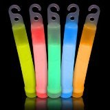 Fun Central I33 6-Inch Premium Glow Sticks, Assorted Colors (Pack of 25)