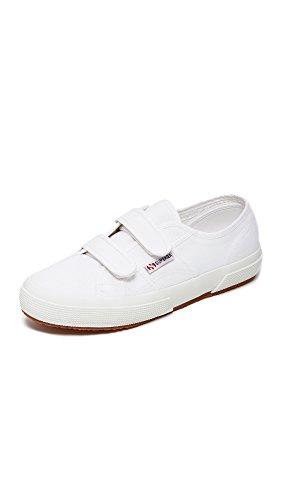 Superga Women's 2750 Velcro® Sneakers, White, 8.5 B(M) US