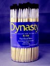 Dynasty B-100 Round Fine Camel Hair Paint Brush Assortment - Assorted Size44; Brown44; Pack 144
