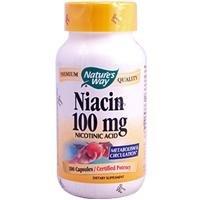 Natures Way Niacine, 100mg 100 Capsules