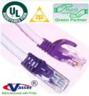 UL 24Awg Pure Copper SuperEcable -20675-100 Ft UTP Cat5e Ethernet Network Patch Cable Purple