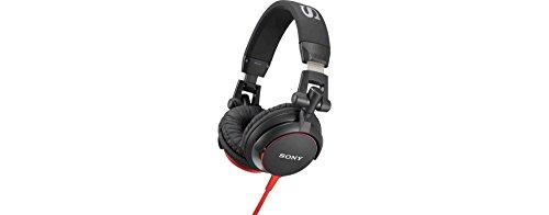 Sony MDR-V55 Wired DJ Style Headphones, Black/Red