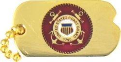 US Coast Guard Dog Tag Lapel Pin or Hat Pin