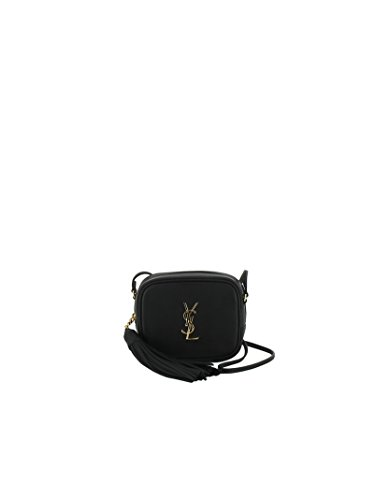 SAINT LAURENT WOMEN'S 425317BJ58J1000 BLACK LEATHER SHOULDER BAG