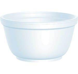 DART Foam Bowls 10 oz White Round 10B20 (2 packs of 50) (100 count)