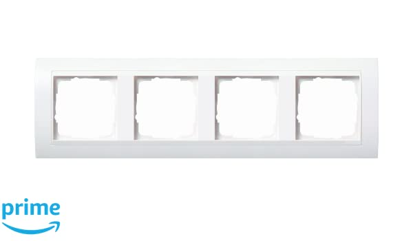 Gira 0214327 - Marco embellecedor para 4 enchufes, color blanco mate: Amazon.es: Bricolaje y herramientas