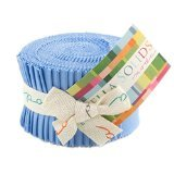 Bella Solids 30s Blue Jr Jelly Roll (9900JJR 25) by Moda House Designer for Moda by Moda Fabrics