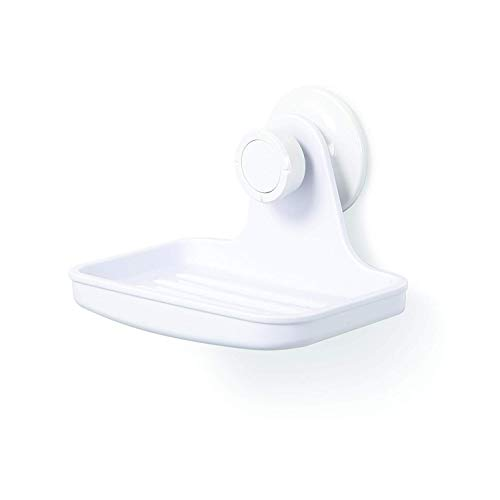 Umbra Flex Shower Soap Dish with Patented Gel-Lock Technology Suction Cup, 9.7539999999999996 x 12.497 x 7.62 cm, Wh