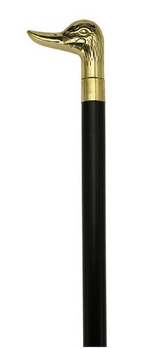 Unisex Duck Head Cane Black Maple, Solid Brass Handle  -Affordable Gift! Item #HAR-9112108 -
