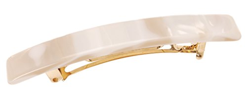 France Luxe Small Luxury Rectangle Barrette - Alba by France Luxe