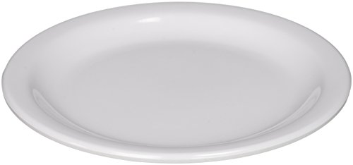 Winco MMPR-6W Round Melamine Plate, 6.5-Inch, White ( 12 Count -