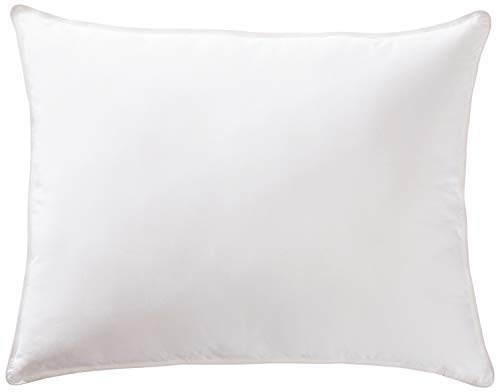 AmazonBasics Deluxe Down-Alternative Pillow with Cotton Shell - Medium Density, Standard