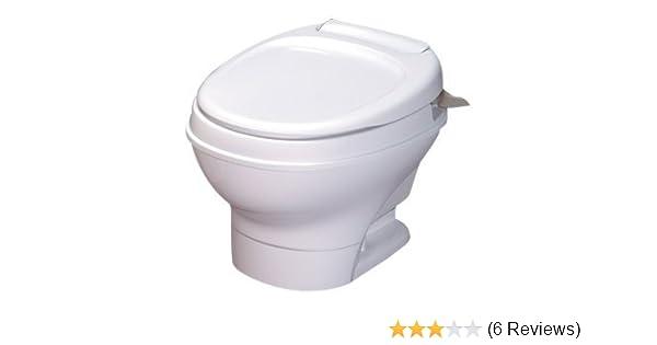 Thetford 31667 Aqua-Magic V High Profile White Hand Flush Toilet