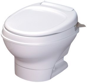- Thetford 31646 Aqua-Magic V Toilet, Low / Hand Flush / White by Thetford