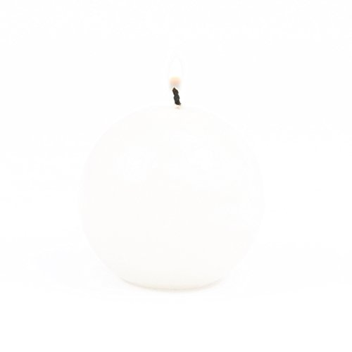 Koyal Wholesale 6-Pack 2.5-Inch Round White Ball Candles ()