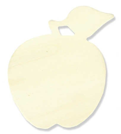 (Package of 24 Unfinished Wooden Apple Cutouts for Crafting, Creating, and Embellishing)