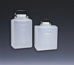 (Nalgene Polypropylene Carboy, Rectangular w/ SS Handle, 9 Liter , case/6)