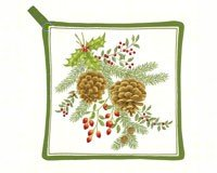 (Alice's Cottage AC21327 Holiday Pinecones Pot Holder)