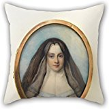 Uloveme Oil Painting Richard Cosway - Box With Portrait Miniature Of A Nun Throw Pillow Covers 16 X 16 Inches / 40 By 40 Cm Best Choice For Kitchen,shop,bench,wife,study Room,teens Boys With Double
