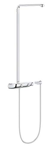 Grohe 26379000 Smart Control Shower System with Exposed Thermostat for Wall Mounting, StarLight Chrome ()