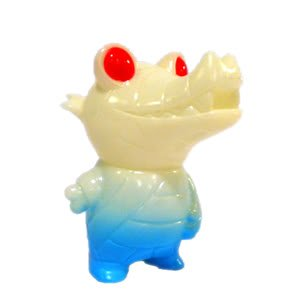 Pocket Mummy Gator GID (Glow-in-the-Dark) Edition Kaiju Designer Vinyl Figure by Brian Flynn