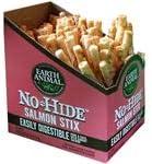 Earth Animal No-hide Salmon Stix 90 Count Value Box
