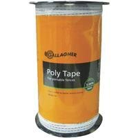 Gallagher G623044 Electric Fence 1/2-Inch Polytape, 656-Feet, White