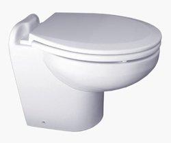 Raritan Marine Elegance Toilet - Household - Stright Back - White - Raw - 12 Volt - Smart Control