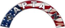 Captain American Flag Firefighter Fire Helmet Arcs / Rocker Decals - Firefighter Fire Helmet