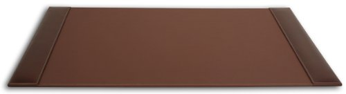 Dacasso Rustic Brown Desk Pad with Side-Rails, 34 by 20-Inch