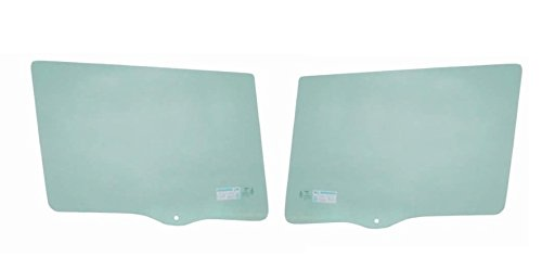 Make Auto Parts Manufacturing - Passenger (Right) And Driver (Left) Door Glass Cherokee (Old Body Style) 2dr 84-96 Front Right and Left Door With Vent - Green Tint - Set of (2dr Old Body)