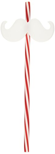 Amscan Christmas Moustache Plastic Straw   Party Favor -